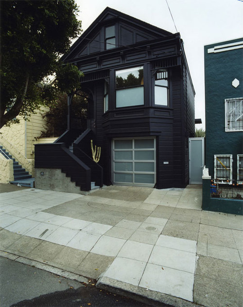Black exterior Victorian via Houzz