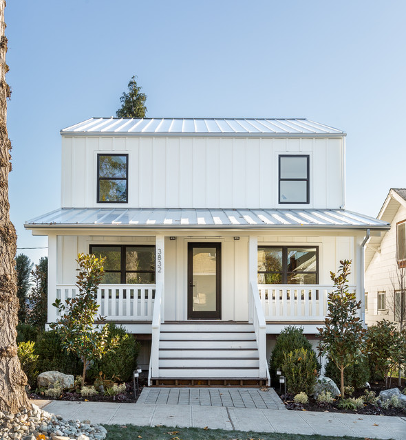 Wallingford Modern Farmhouse Farmhouse Exterior Seattle By Rohleder Borges Architecture