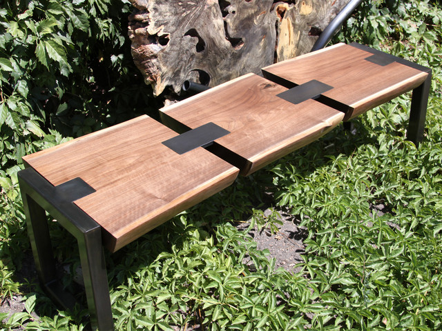 Delicieux Where Wood Meets Steel · Furniture U0026 Accessories. Walnut Bench  Modern Exterior