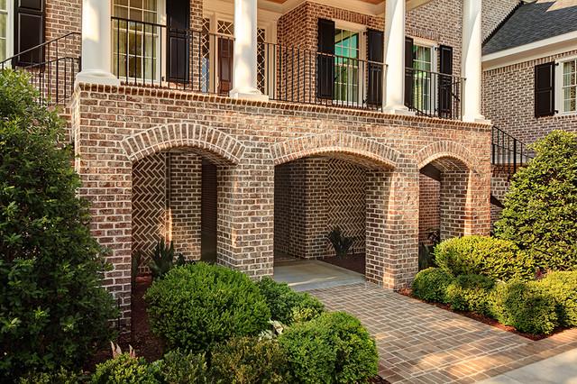 Walnut Creek Tudor Brick Home North Carolina Contemporary Exterior