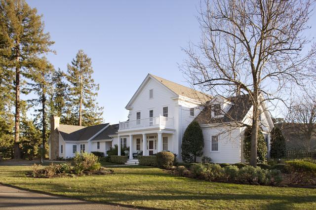 Walnut Hill Ranch - Front Facade traditional-exterior