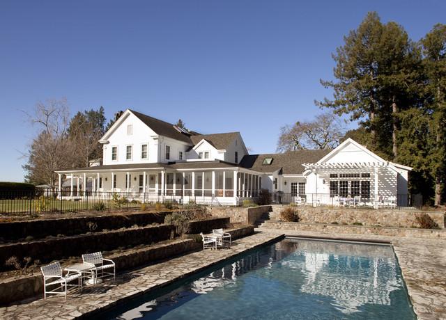 Walnut Hill Ranch - Rear Facade traditional-exterior
