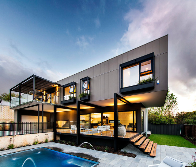 Contemporary exterior home idea in Perth