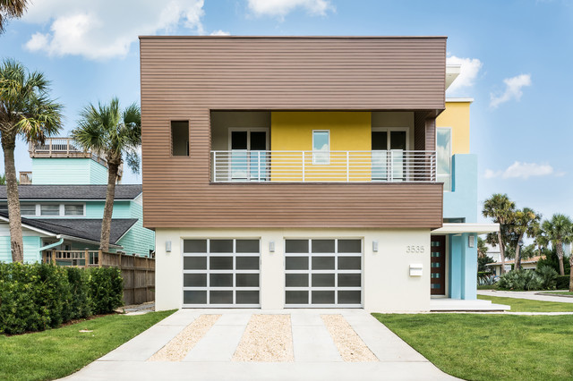 Warm contemporary contemporary exterior jacksonville for Modern house jacksonville
