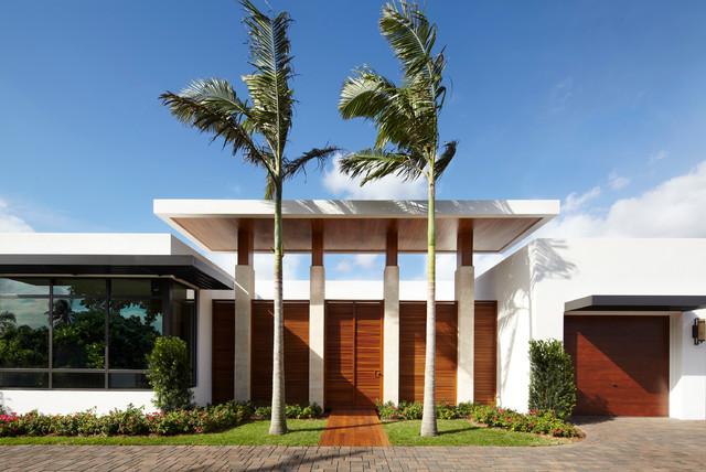 Warm Contemporary In Boca Raton Contemporary Exterior