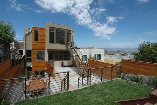 Warm Modern In Noe Valley Rear Contemporary Exterior San