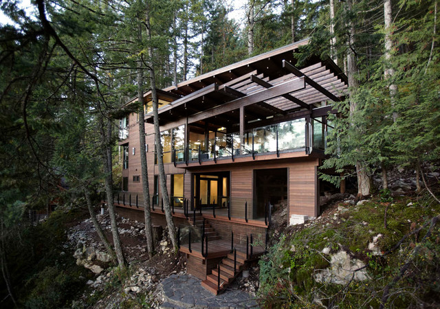 Gambier island custom home modern exterior vancouver for Modern home decor vancouver