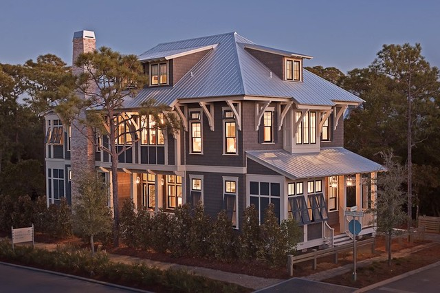 Watercolor Florida Custom Home traditional-exterior