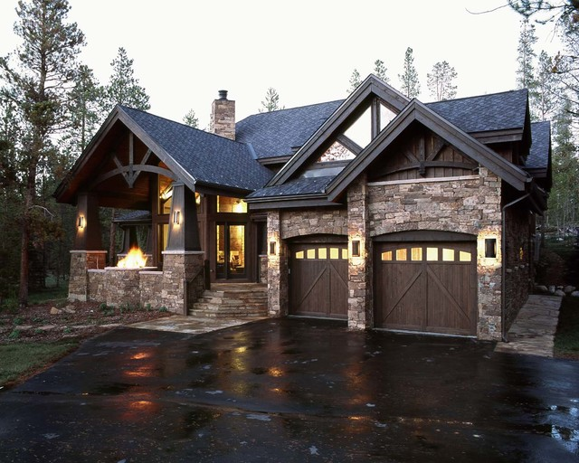 Waterdance harmony traditional exterior denver by for Mountain houses