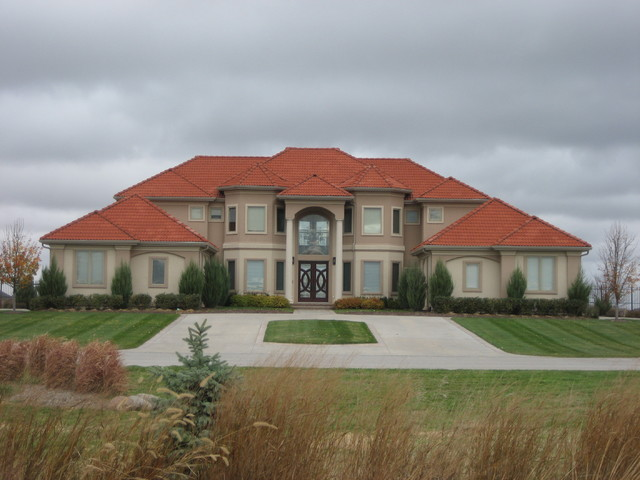 Waterford home mediterranean exterior omaha by for Advanced home designs