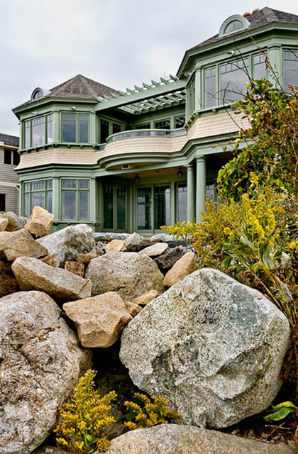 Waterfront Home with Atlantic Ocean Views traditional-exterior