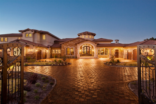 waterfront luxury home lake travis mediterranean exterior