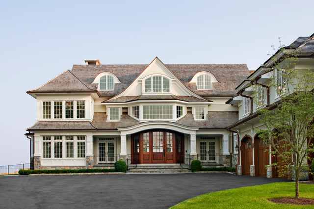 Waterfront Residence Beach Style Exterior New York