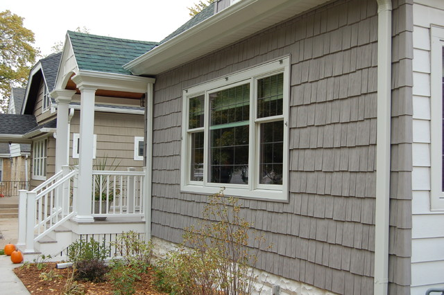 Wauwatosa porch siding traditional exterior for Lp shake siding