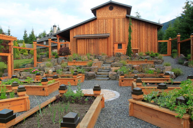 eclectic landscape by Alderwood Landscaping