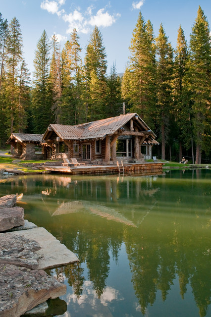 Yellowstone Lake Cabin Rustic Exterior Other Metro