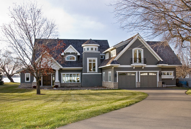 West arm cottage traditional exterior minneapolis for Entrance from garage to house