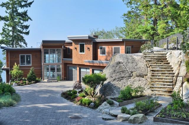 West Coast Contemporary Home - Contemporary - Exterior - Vancouver ...