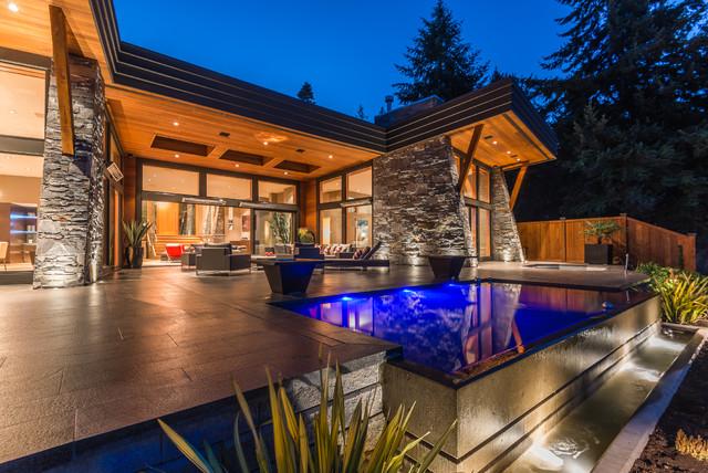 West Coast Contemporary Waterfront Home - Contemporary - Exterior ...