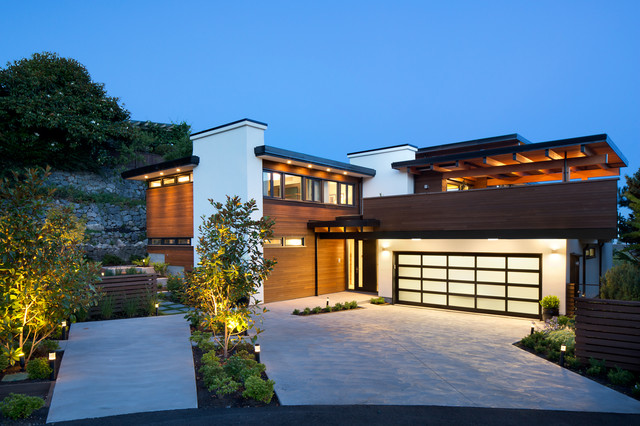 West coast modern renovation contemporary exterior for West coast style house plans