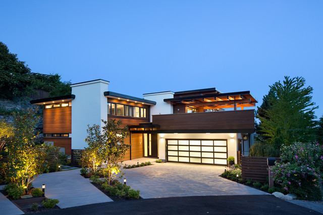 West coast modern renovation contemporary exterior vancouver by naikoon contracting ltd Modern dream home design ideas