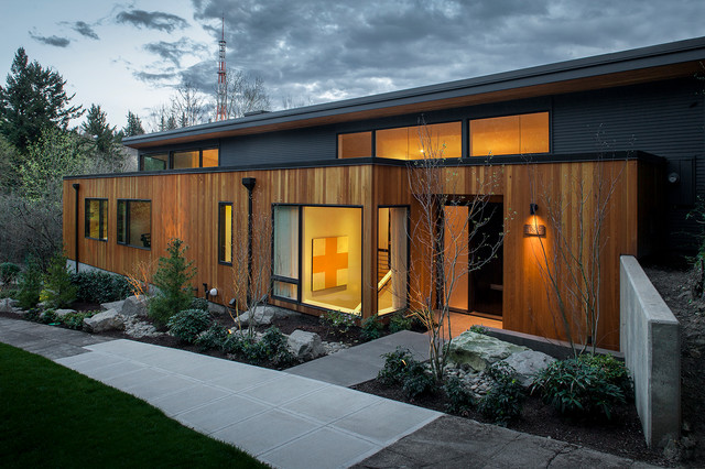 West Hills Remodel Contemporary Exterior Portland