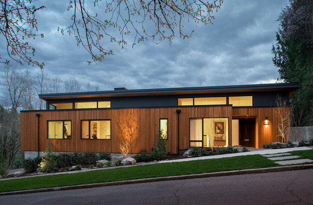west hills remodel contemporary exterior portland. Black Bedroom Furniture Sets. Home Design Ideas