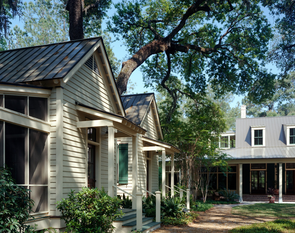 Elegant beige exterior home photo in Atlanta