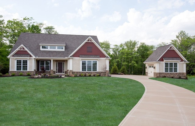 West jefferson oh craftsman ranch home for Ranch home builders ohio