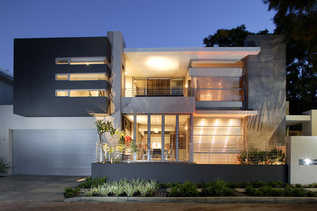 Modern Front Elevation Perth : West leederville residence contemporary exterior