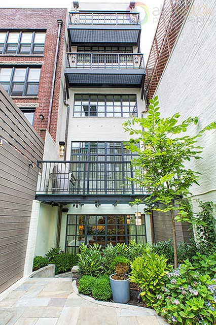 West side townhouse modern exterior new york by for Modern townhouse exterior