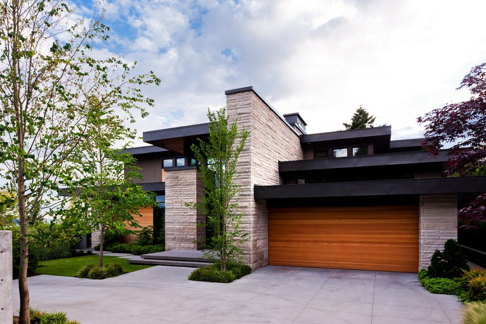 Contemporary exterior home idea in Vancouver