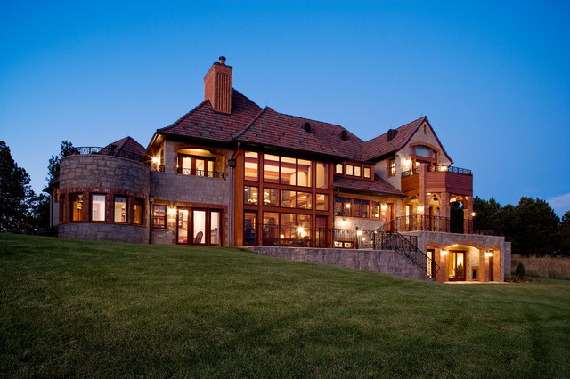 Western Country House traditional-exterior