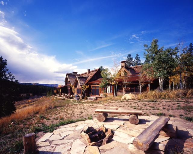 Western Homestead Ranch Rustic Exterior Denver By