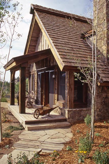 Western Homestead Ranch Porch Rustic Exterior Denver