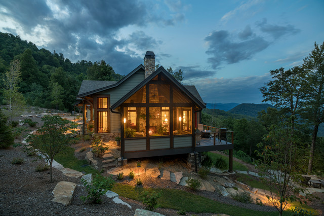 Western North Carolina Mountain Residence Rustic