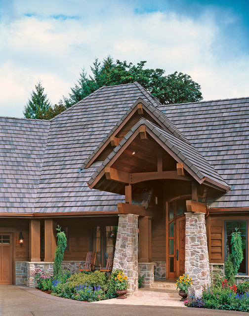 Western ranch rustic exterior portland by alan for Western ranch style house plans