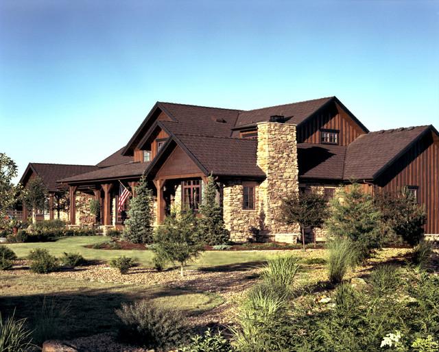 Western ranch klassisch haus fassade denver von for Western ranch style homes