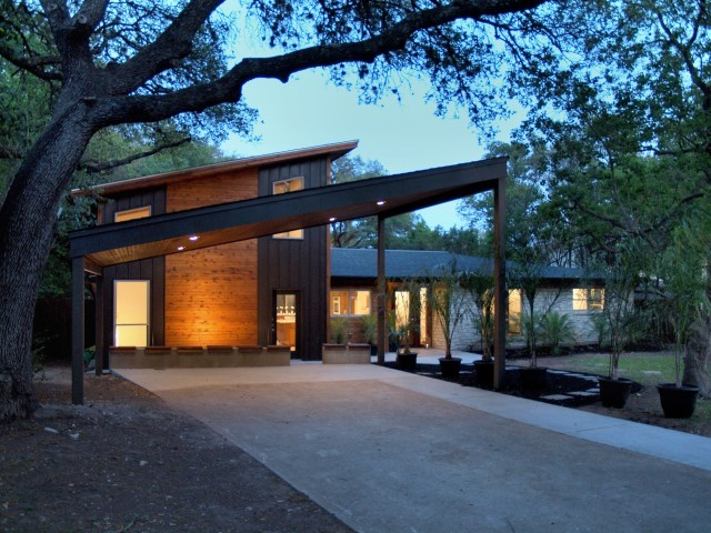Westhaven drive contemporary exterior austin by for Modern carport designs plans