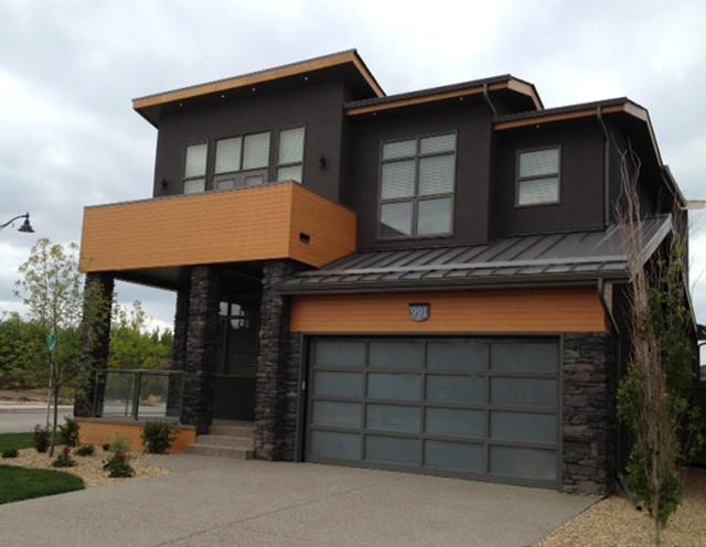 Westpoint Estates Reaction Calgary AB Truman Homes Contemporary Exterior