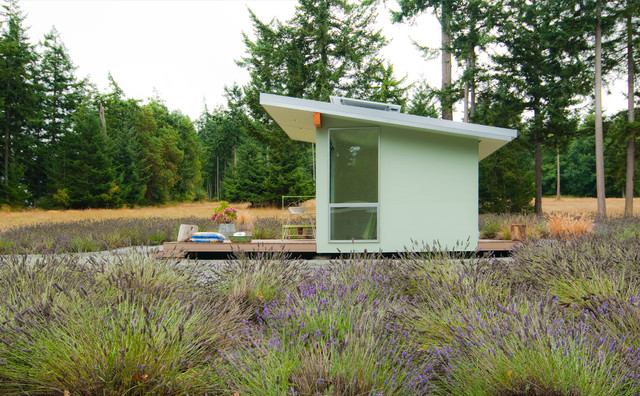 Whidbey Island Potting Shed midcentury-exterior
