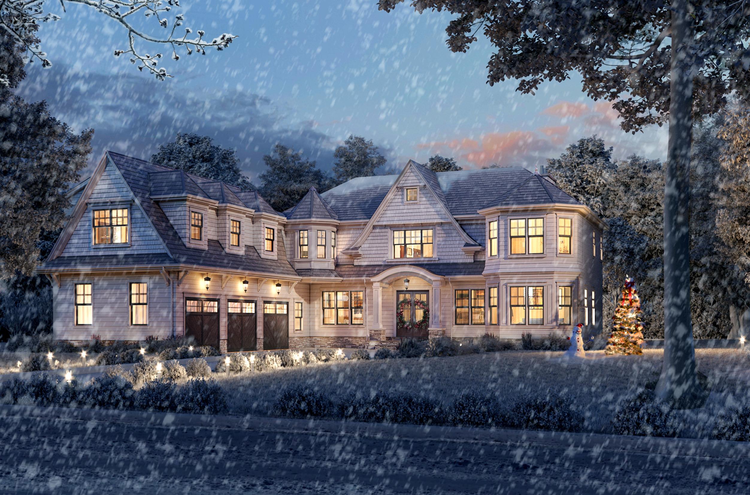 Whimsical White Winter Wonderland Home