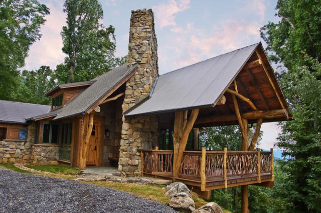 Whisper Mountain Hillside House Contemporary Exterior