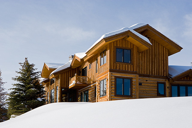 Whispering Pines; Big Sky, MT traditional-exterior