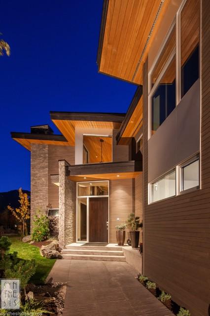 Whistler residence contemporary-exterior