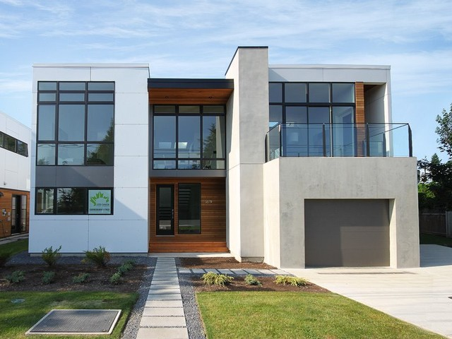 White rock house ii modern exterior seattle by for Casas minimalistas exterior