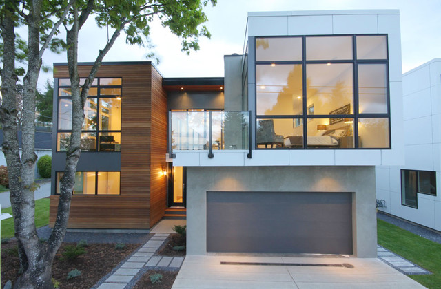 white rock house modern exterior - Modern Homes Exterior
