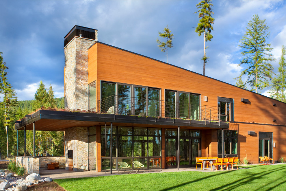 Contemporary exterior home idea in Other