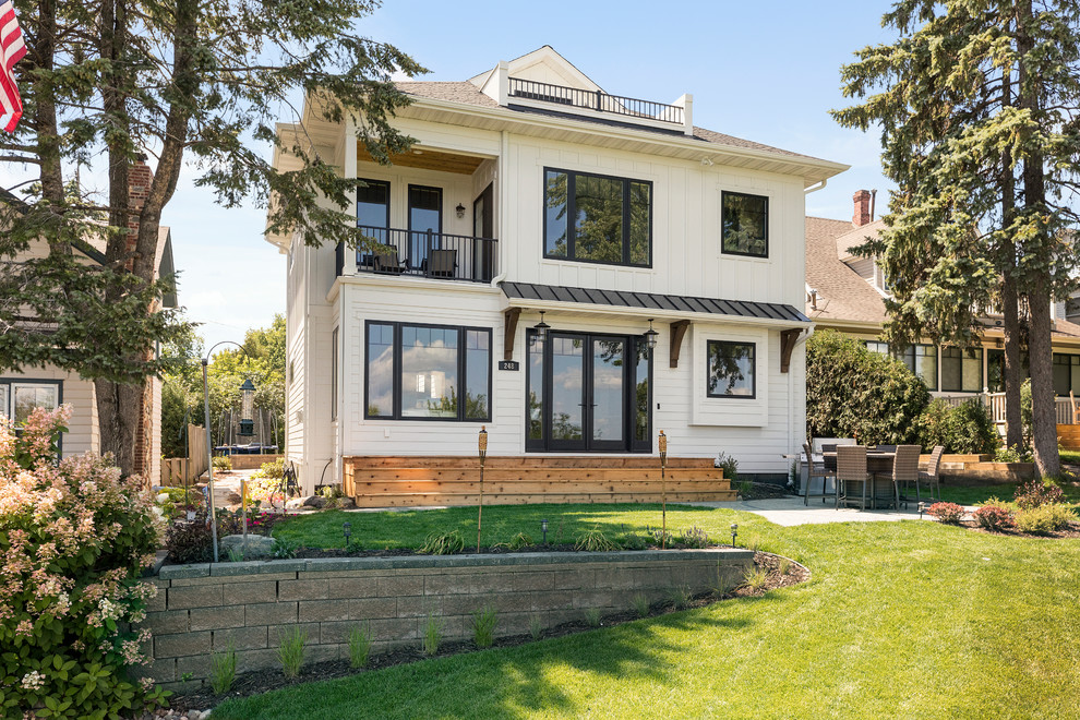 Whole Home Reconstruction Lake Street Excelsior Transitional Exterior Minneapolis By Gonyea Transformations