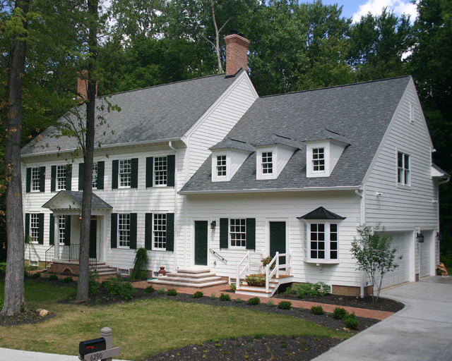 Williamsburg colonial exterior traditional exterior for Traditional house building